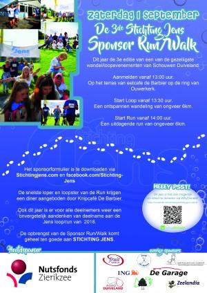 Logo Stichting Jens sponsor walk/run 2018