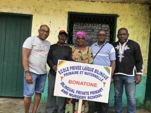Logo verbetering basisschool in Douala (Kameroen)