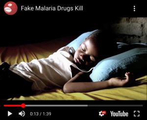Logo Stop de handel in nep malaria medicijnen